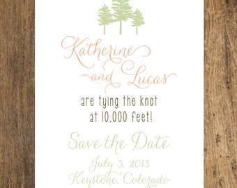 Mountain Alpine Trees Colorado Save the Date