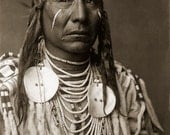 Red Wing, Large Restored Vintage Native American Photograph Reprint of Crow Man by Edward Curtis