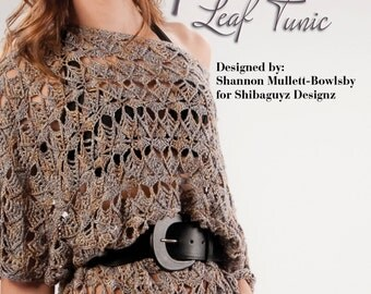 Filigree Leaf Tunic - Women's Crochet Tunic Digital Pattern