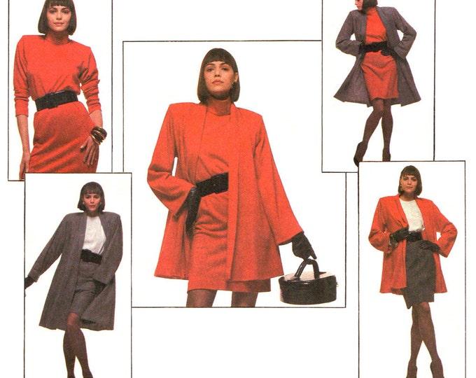 1980s Flared Swing Coat, Jacket, Mini Dress, Tunic, Skirt Pattern Style 1368 Size 12 14 16