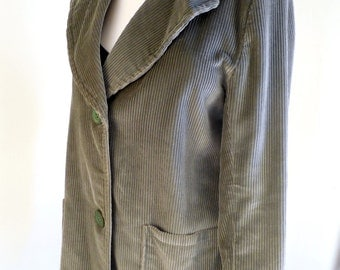 Vintage Mens Corduroy Coat in Green AWESOME!  made by browser