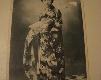 SALE Nice Vintage Japanese Geisha Maiko Tying Obi Postcard