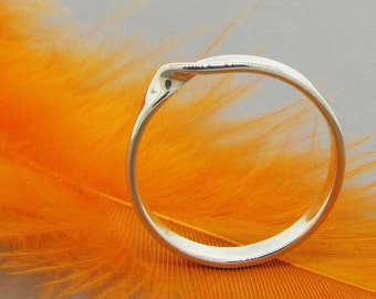 Mobius ring, infinity ring, sterling silver ring, unity ring, bridesmaid gift