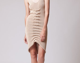 knitted cotton spine dress