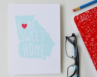 Custom, Personalized State Print, State Love, State Map, Country, Continent, Love Where You Live, Silhouette, Home Sweet Home, 8x10, 11x14