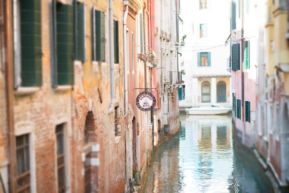 Venice Photography - Quiet Canal in Venice, Wall Decor, Italy Travel Photograph, Large Wall Art