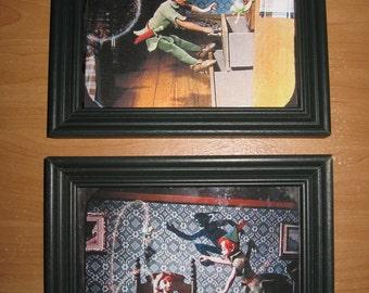 Retro Peter Pan Framed Prints