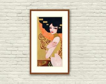"Klimt's Adele by Leilani Joy 5.5""x11"" Fine Art Print"