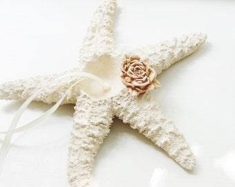 Starfish Ring Bearer Ring Pillow Beach Wedding Ring Holder Pillow Alternative Bowl Dish Plate Unique