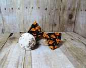 Black with Pumpkins Bow Tie, Clip, Headband or Pet
