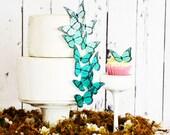 Edible Ombre Monarch Butterflies - Food Decorations - Edible Butterfly - Wedding cake decoration