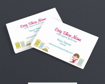 Business Card Designs - Business Card Design - Printable -  Sewing 5
