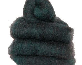 Shetland Black Emerald Spinning Batts - 4 ounces