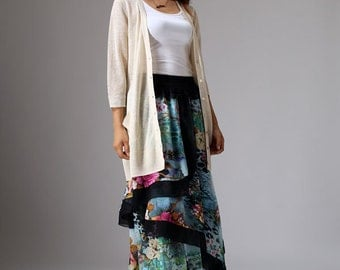 Chiffon skirt long women skirt maxi skirt flower skirt (1049)