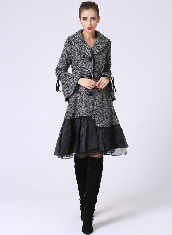 Dress coat Womens Coat Grey Coat Wool Coat Wool jacket