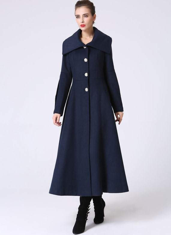 Maxi coat long coat womens jackets winter coat fitted