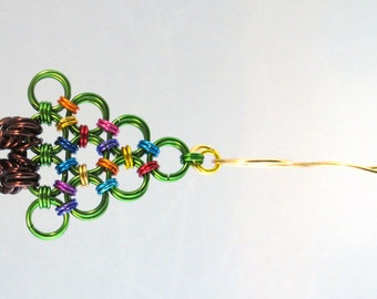 Chainmaille Christmas Tree Ornament