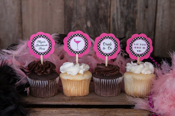 Items Similar To Bachelorette Cupcake Toppers