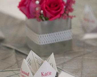 Printable Cootie Catcher, Ideal for Wedding Decorations, Programs, Etc.