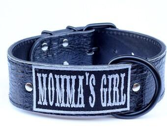 Name Leather Dog Collar - Custom Name Dog Collar - Name Leather Dog Collar - Name Dog Collar - Personalized Dog Collar