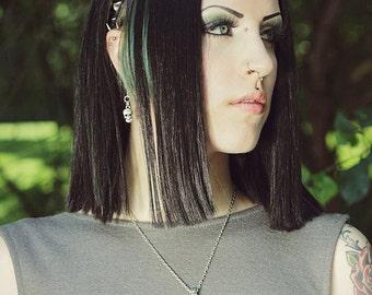 Pyramid Stud headband - Genuine Leather Studded Headband - Goth, Punk, Industrial