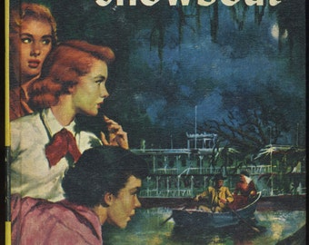 Vintage Nancy Drew The Haunted Showboat, Mystery Book, Girl Detective Series, 1950s