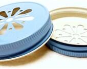 Mason Jar Lids, 10 Daisy Cut Mason Jar Lids, Daisy Jar Lids, Frozen Birthday, Baby Shower Favors, Wedding Favors, Mason Jar Favors, Jar Lid