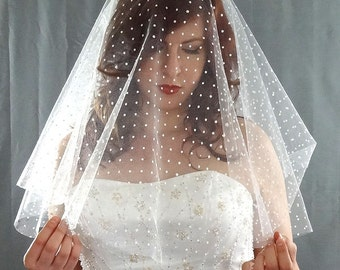 Swiss Dot Drop Veil, Polka Dot Drop Veil