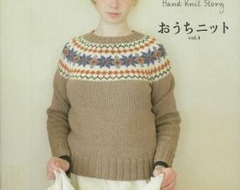 Hand Knit feminine Patterns, Home Outer, Vol.4, Japanese Knitting Book for Women Clothing, Easy Knitting Tutorial, KazeKobo, michiyo, B1330