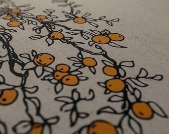 Ketubah Giclée Print by Jennifer Raichman - Branches with Fruit
