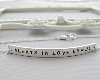 Silver ID BRACELET, Personalized bracelet, Engraved bracelet, Sterling Name Bracelet, Couples Bracelet