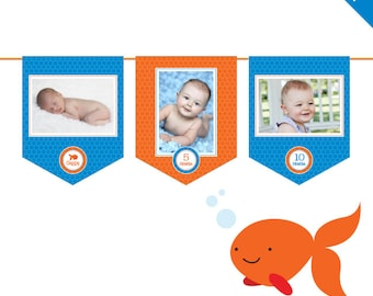 INSTANT DOWNLOAD Goldfish Party - DIY printable photo banner kit