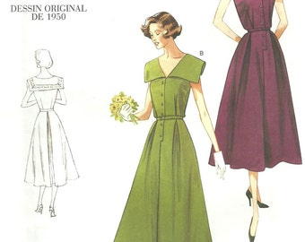 Vogue 1171 Reproduction Sewing Pattern  // Sailor Collar Dress // Size 8 10 12 14