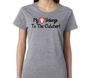 Love My Catcher! - short sleeve t-shirt - free shipping  Contiguous U.S.  #231