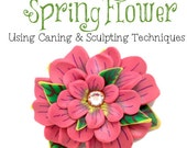 Polymer Clay Tutorial: Spring Flower Using Sculpted Millefiori Cane Slices