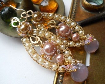 14kt GF and Vintage Faux Pearl Earrings  SRAJD