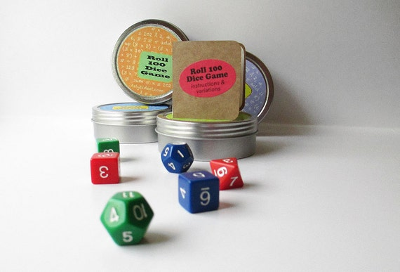 Math game, travel game, dice game for all ages. Fun educational game for math practice. Math gift, stocking stuffer for math geek.