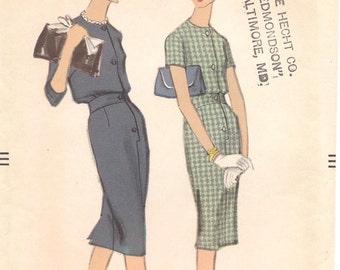 1950s Shirtdress - Vintage Pattern Vogue 9584 - Bust 36 Blouson
