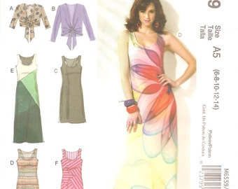 Knit Maxi Dress and Jacket - McCall's 6559 - Size 6 to 14 UNCUT FF