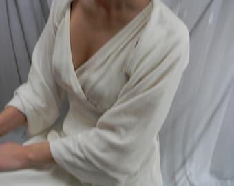 Ivory velvet shrug