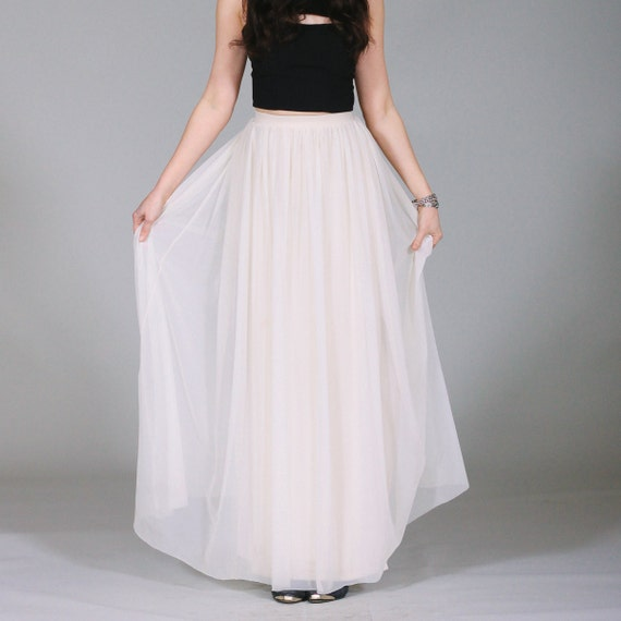 items similar to bohemian maxi skirt sheer white