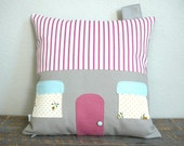 House Pillow Cover - 72 Violet Road  - Decorative Pillow - Nursery
