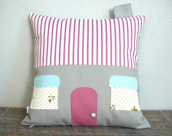 House Pillow Cover - 72 Violet Road  - Decorative Pillow - Nursery