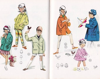 1950s Vintage Lutterloh Childrens supplement No 9 Sewing Pattern Drafting book 50 Patterns for Children 1 - 10 years