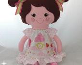 Custom Cloth doll, baby doll, dress up doll