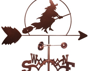 Hand Made Witch Halloween Weathervane NEW
