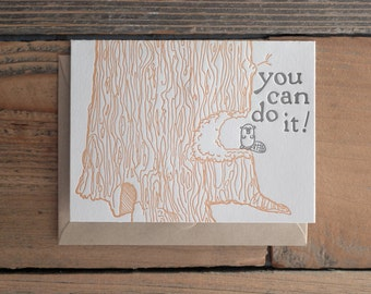 Letterpress You Can Do It Greeting Card