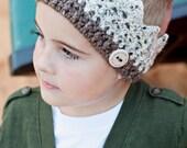 PDF pattern, crochet crown, ear warmer, head warmer