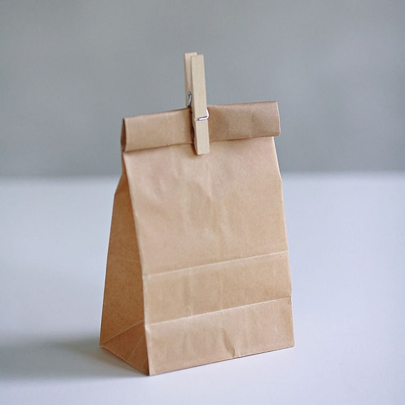 Set of 10-  Wax Coated Kraft Lunch Style Bag 3 sizes to choose from