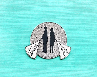 X-Files trust no one acrylic brooch pin